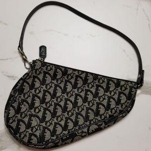 Christian Dior Mini Saddle Bag Navy SHW